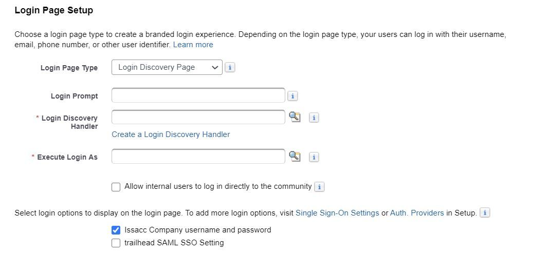 login-discovery-page