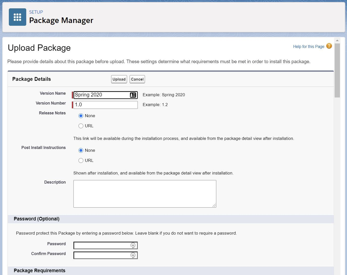 upload-package-in-package-manager