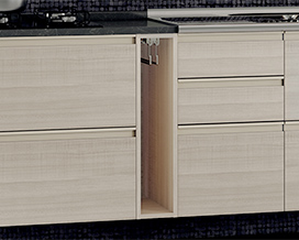 Base niche with towel hangers - Kitchen wooden Itatiaia Belíssima