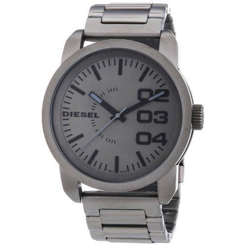 16f24598f590 Diesel Watch Men s Franchise Gunmetal Ion Bracelet DZ1558 for sale ...