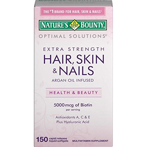 Nature\'s Bounty Extra Strength Hair Skin Nails, 150 Count ...