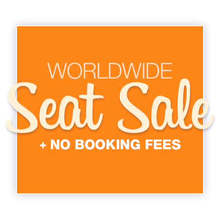 World wide seat sale - No booking fees