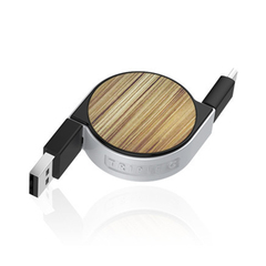 Zebrawood Smart Charging Cable