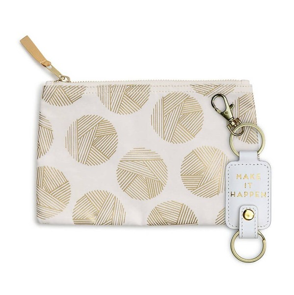 Modern Pouch and Key Fob Gift Set