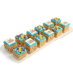 'Happy Birthday' Crispy Rice Treats with Gift Box