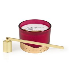 Paddywax Pomegranate and Cassis Candle and Snuffer Set
