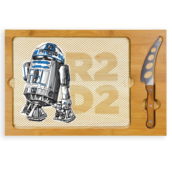 R2D2 Glass Top Serving Tray and Knife Set