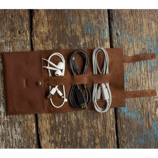 Leather Tech Cord Wrap