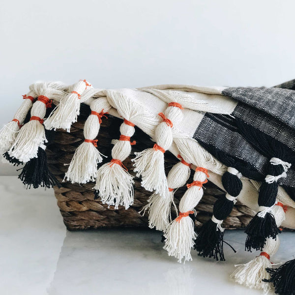 Woven Throw with Tassels