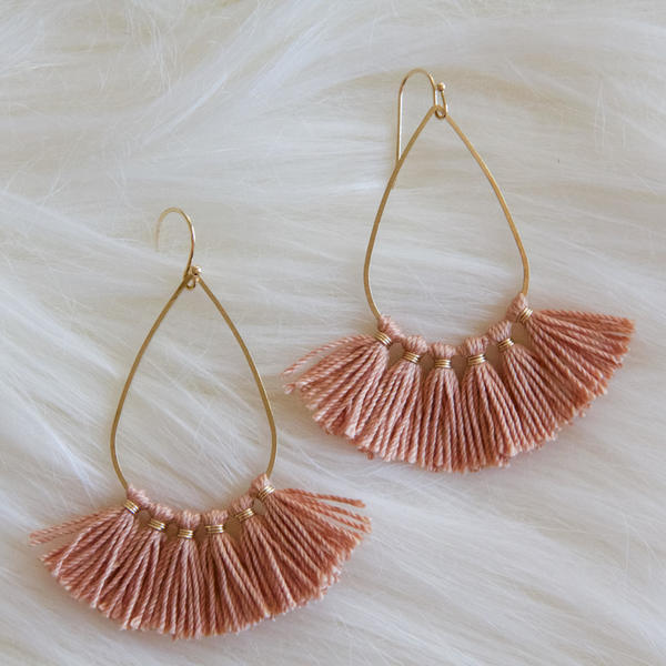 Tassel Tear Drop Earrings