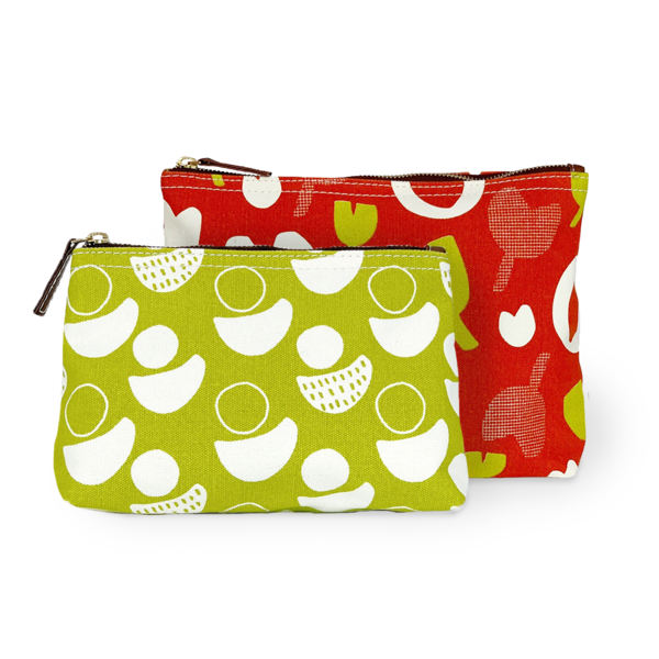 Printed Canvas Pouch Set