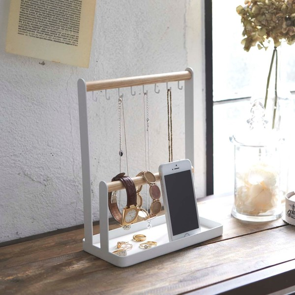 Steel and Wood Accessory Stand