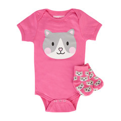 Cat Onesie Gift Set Orig. $28