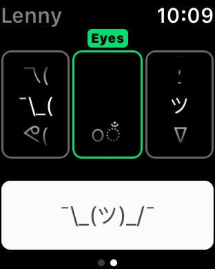 Lenny Makes Unicode Faces on Apple Watch Easy | Watchaware