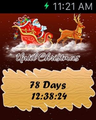 Christmas Countdown Widget.Apple Watch App Watchaware