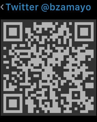 Visual Codes Puts Your QR Codes on Apple Watch | Watchaware
