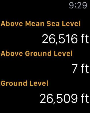 Apple Watch App Watchaware - Current elevation app