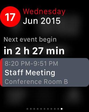 Tiny Calendar.Apple Watch App Watchaware