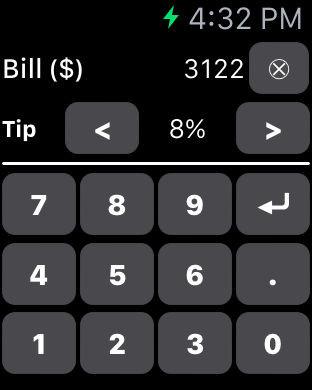tip calculator watchaware