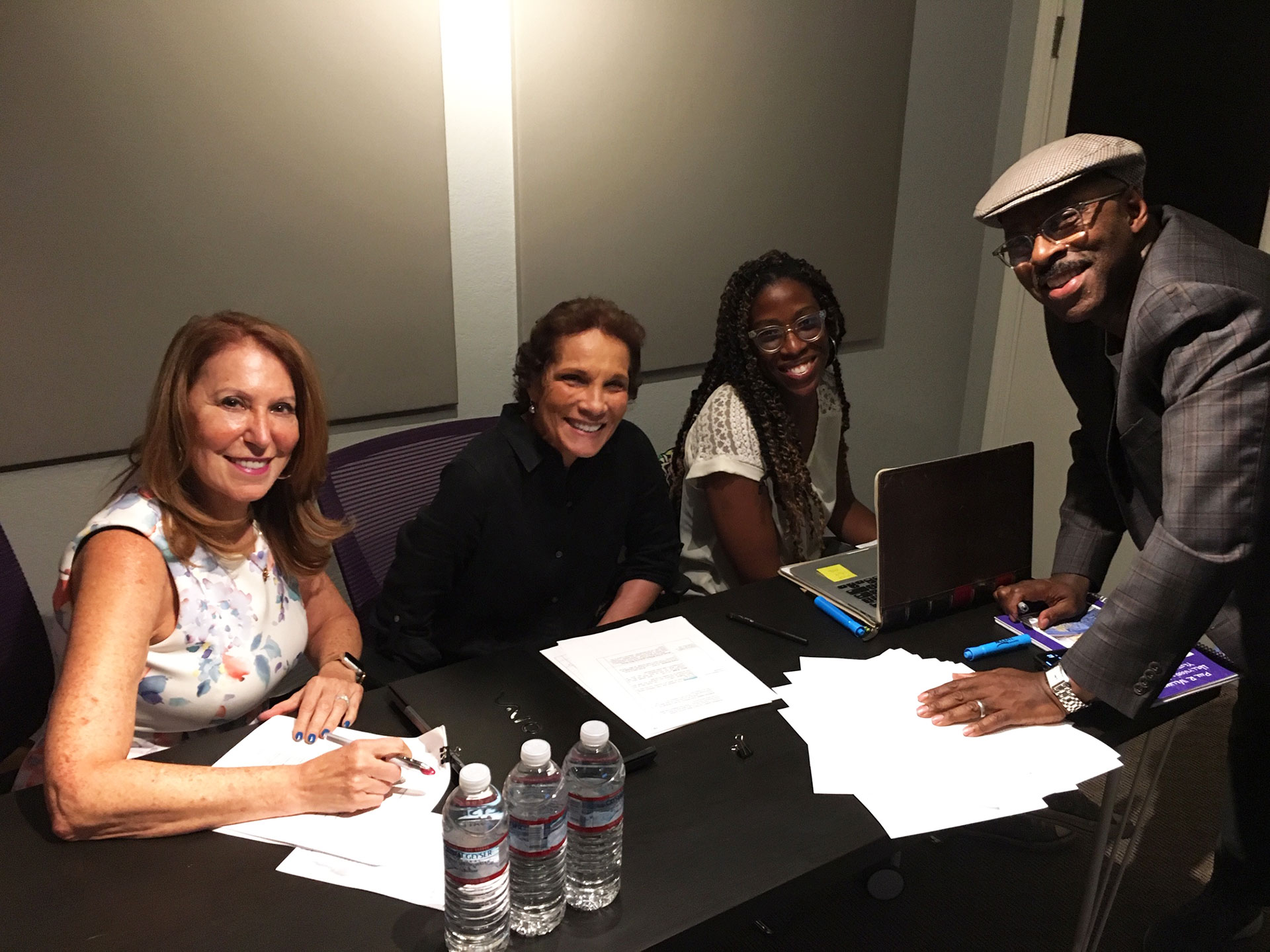 Royal Rodgers and Team During Voice Over Sessions for Hollywood's Architect