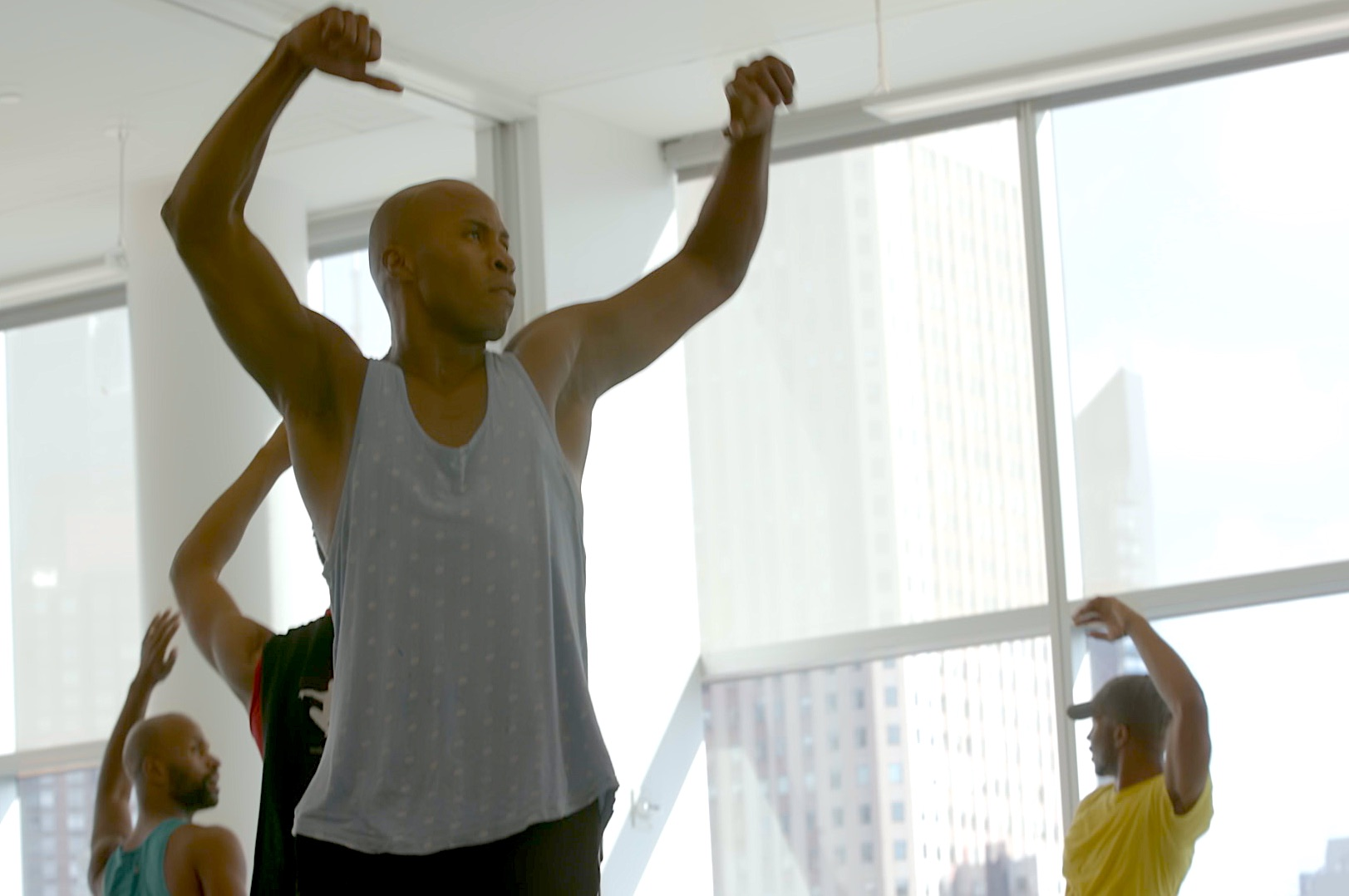 Dancers from the Ailey Dance Company, in the film Ailey