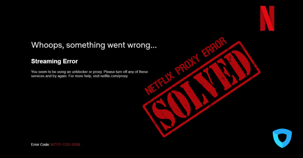 How to fix Netflix Error Code: M7111-1331-5059