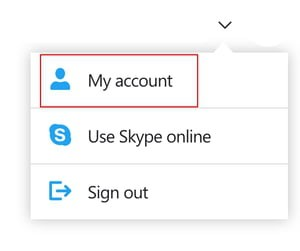 select my account