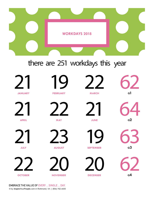 InspireYourPeople.com Printable Workday Counts