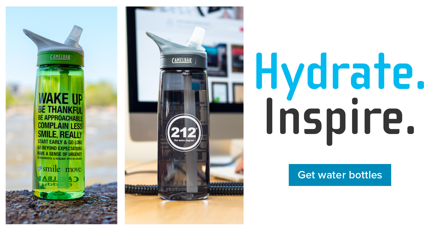 Hydrate. Inspire. Get Water Bottles.