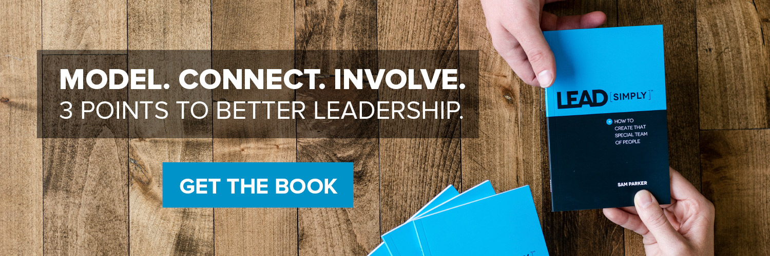 Model. Connect. Involve. 3 Points to Better Leadership. Get the book.