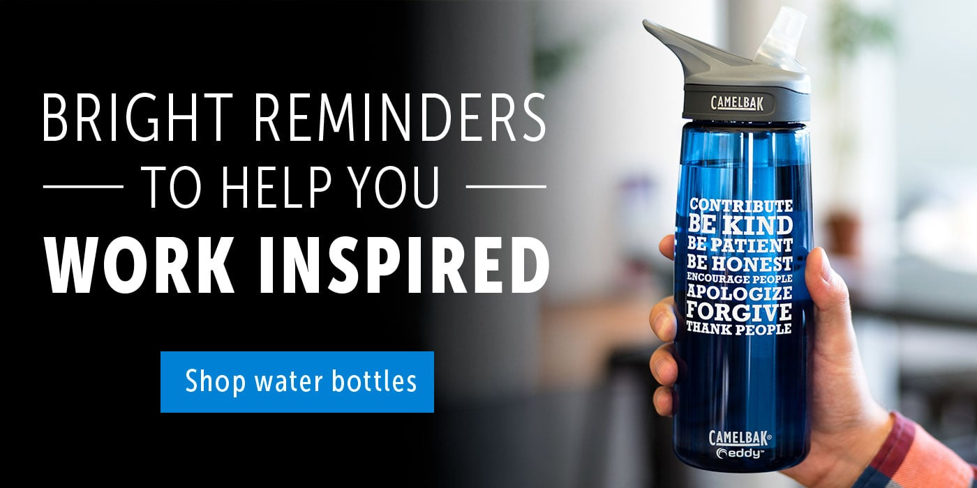 Bright reminders to help you work inspired. Shop water bottles.