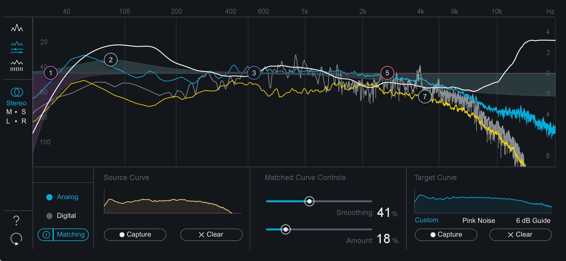 Ozone 8 Help Documentation Phase Correlation Meter Matched Curve Overlay