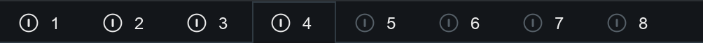 Band select and enable bar