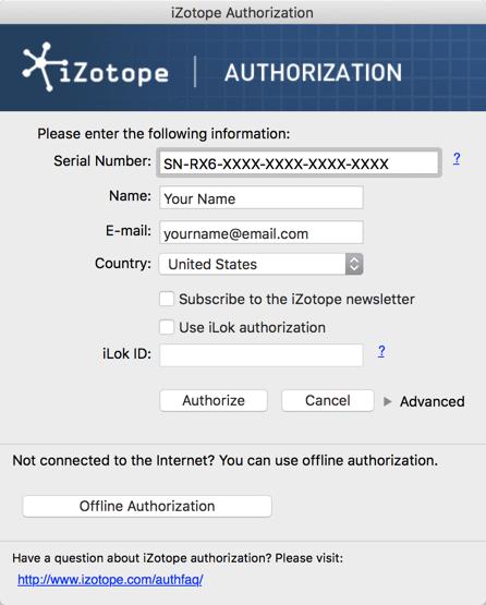 Authorization - RX 7 Help