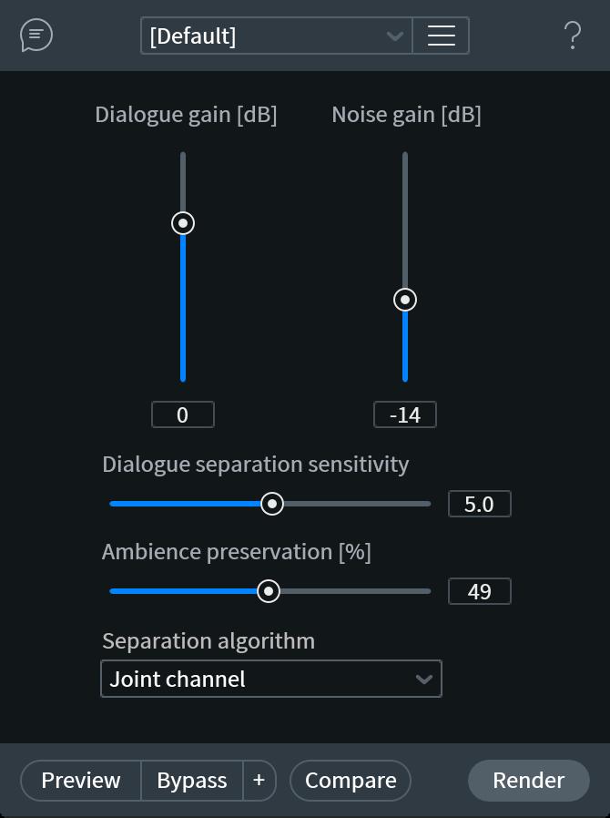 Dialogue Isolate Module Interface