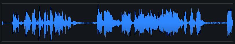 Dialogue Contour waveform display