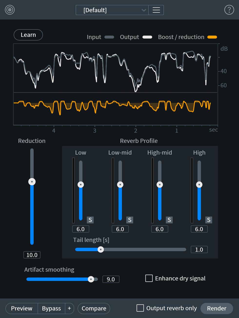 De-reverb Module Interface