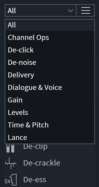 Module List Filter View