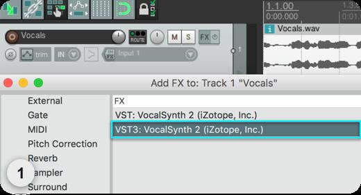 DAW Setup - VocalSynth 2 Help Documentation