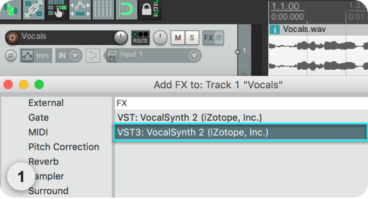 DAW Setup - VocalSynth 2 Help Documentation