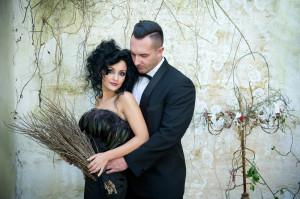 Enchanted forrest engagement shoot