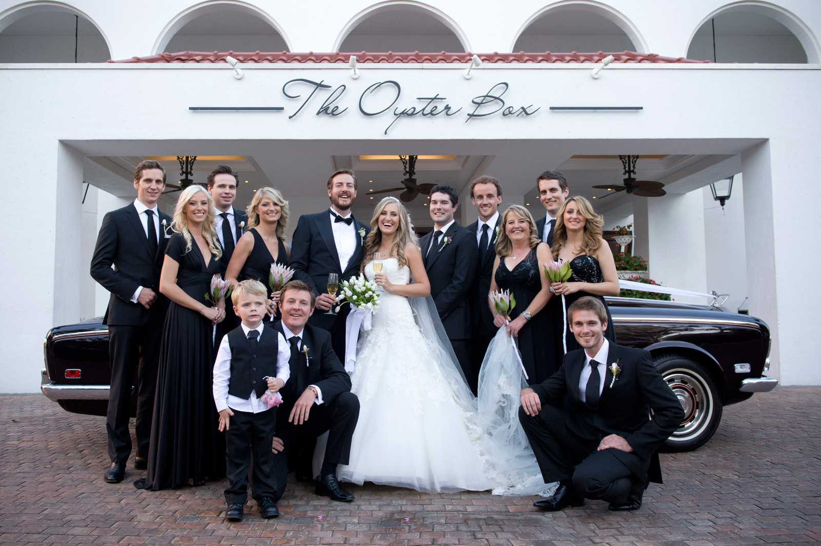 Bridal party Oyster Box Hotel Durban South Africa
