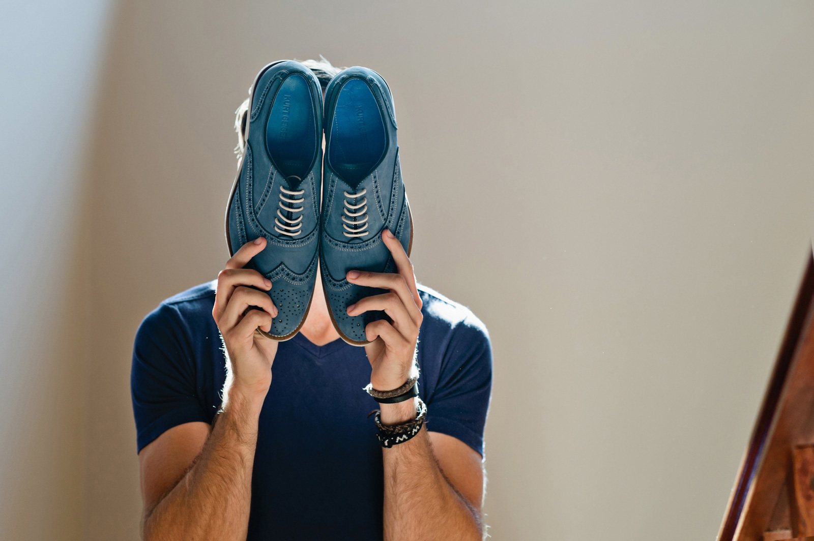 man with shoes