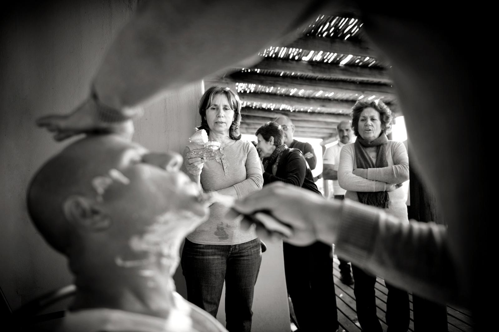 Greek wedding shaving ceremony