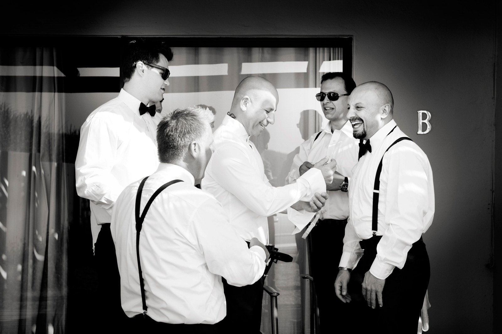 Greek Groom with groomsmen