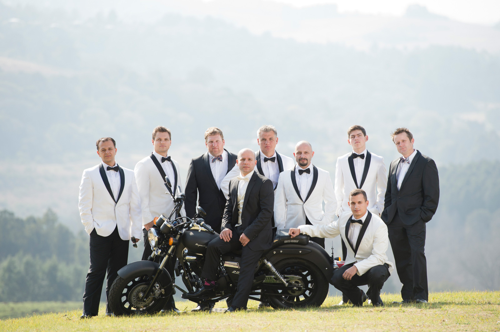 Greek Groom with groomsmen