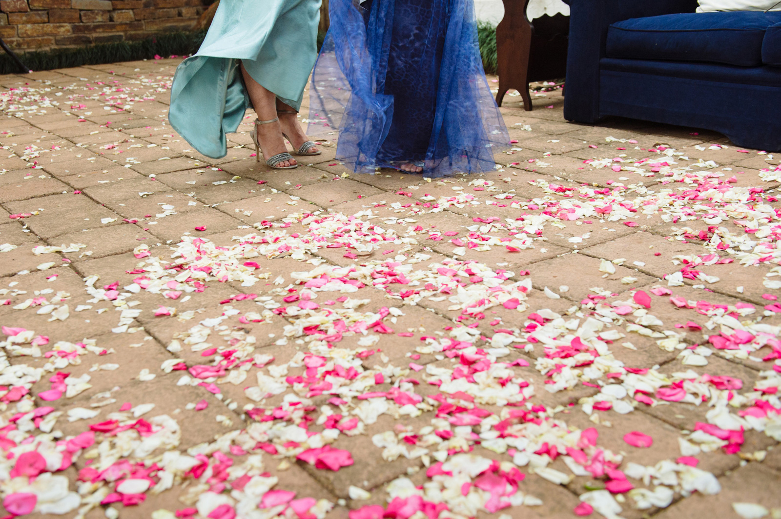Wedding petals at Woodridge