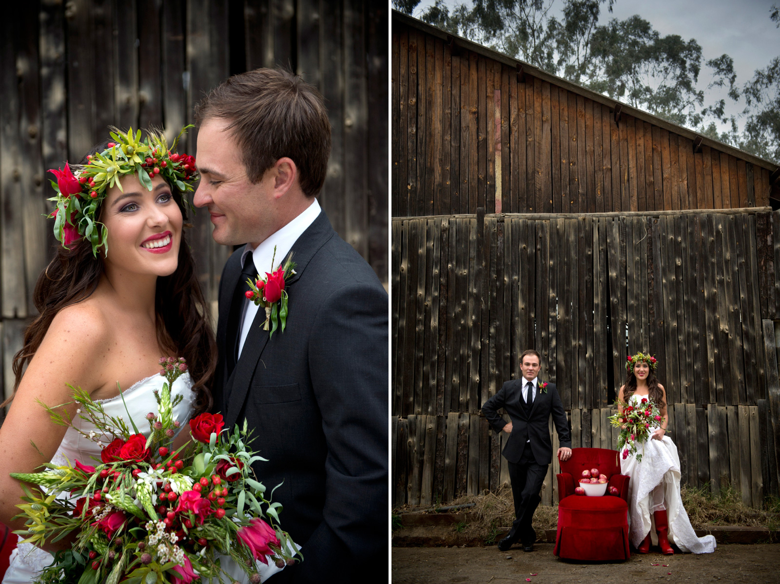 bride and groom styled shoot
