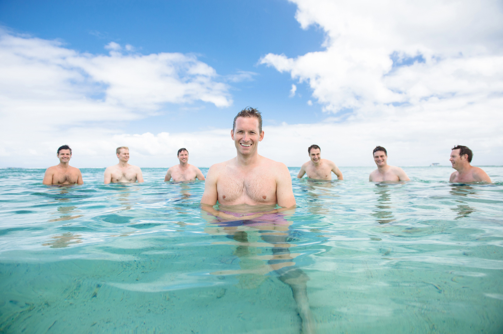 groom and groomsmen in Mauritius
