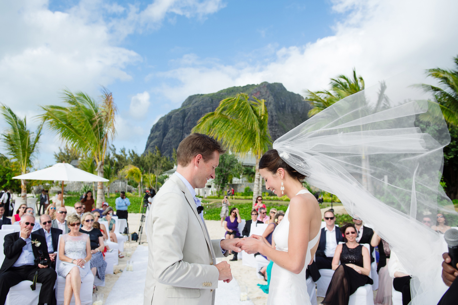 Mauritius windy wedding